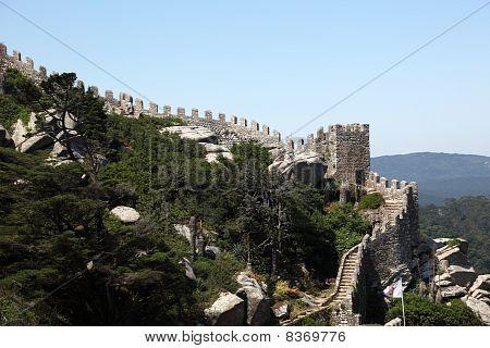 Castle Of The Moors In Sintra