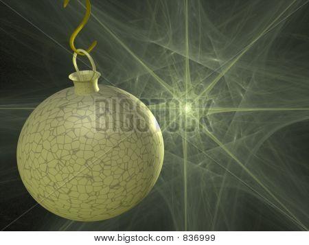 crackled xmas ball