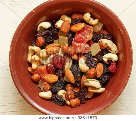 poster of Easy and healthy snack: nuts and dried fruits