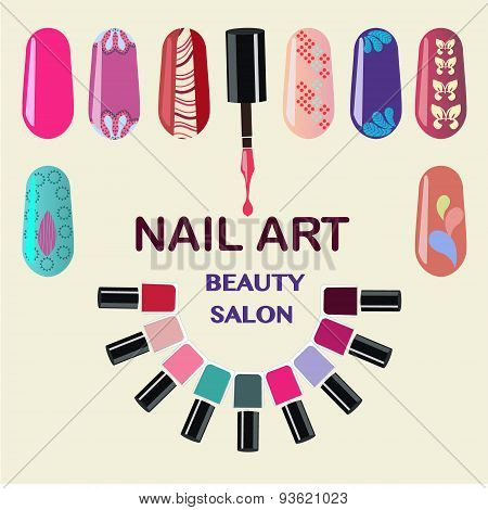 Nails Art Beauty Salon Background