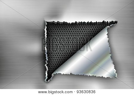 background torn metal
