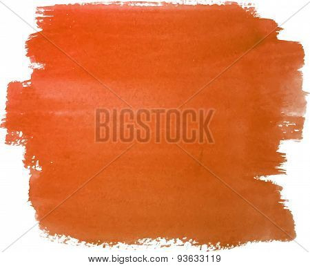 Abstract watercolor hand paint orange texture