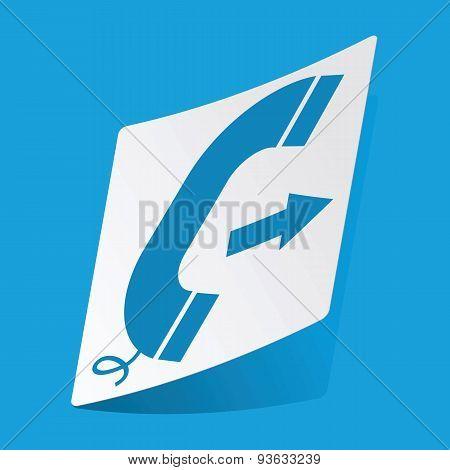 Outgoing call sticker
