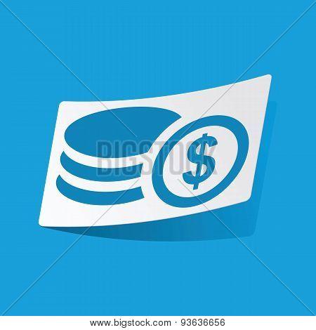 Dollar rouleau sticker