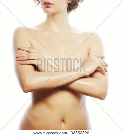 Beautiful naked woman poses