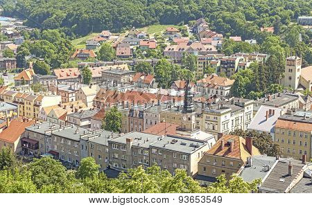 Aerial Picture Of Bolkow Town, Poland.