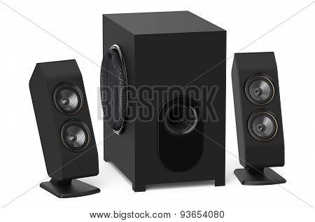 Loudspeakers With Subwoofer System 2.1