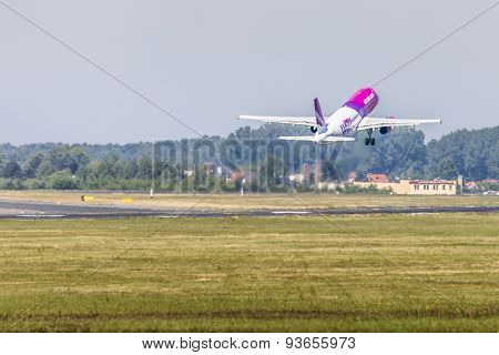 Poznan, Poland - June 14: Wizzair Plane During Aerofestival 2015 Event On June 14, 2015 In Poznan, P