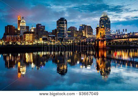 Cincinnati Ohio at Sunrise