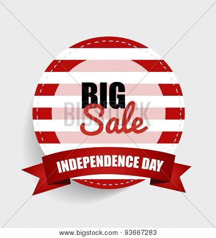 Big sale. Happy independence day, 4th july. Vector illustration.