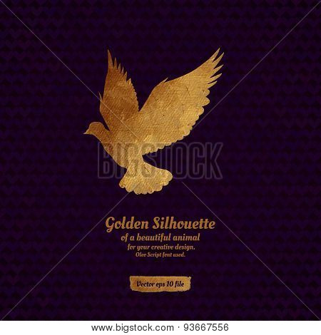 Creative design with golden silhouete.