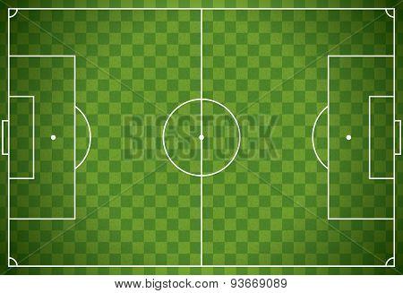 Realistic Football - Soccer Field Illustration