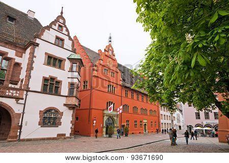Rathausplatz (town Hall Square) In Freiburg Im Breisgau, Germany
