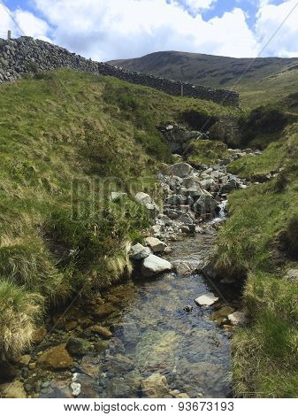 A view up a small stream in the Mournes