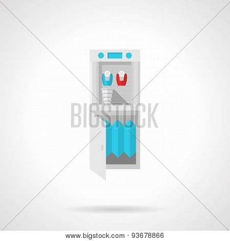 Running water cooler flat vector icon