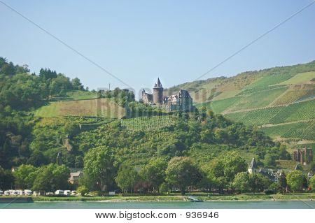 Scenic Rhine And Castle