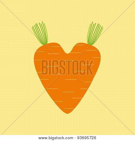 Carrot Heart