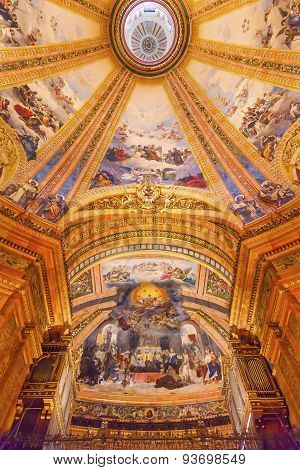 God Fresco Monk Dome San Francisco El Grande Royal Basilica Madrid Spain