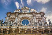 Facade of Basilica di Santa Croce in Lecce, Italy poster