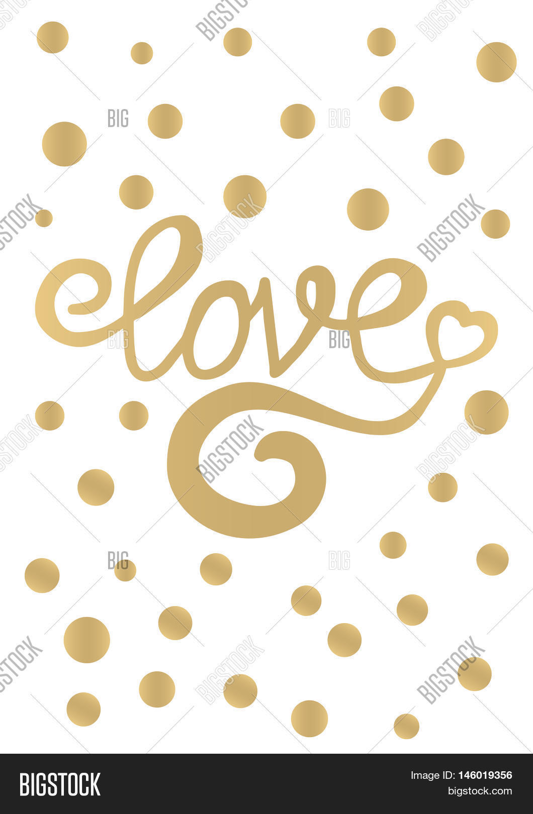 Gold Love Card Design Image & Photo (Free Trial) | Bigstock