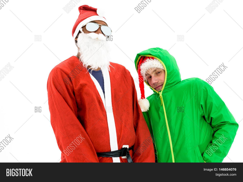 African American Black Thug Gangster Santa and green elf. Santa Claus in red costume suit  sc 1 st  Bigstock & African American Black Image u0026 Photo (Free Trial) | Bigstock