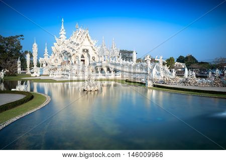 Wat Rong Khun (White temple) The famous temple of thailand