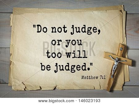 Bible verses from Matthew.