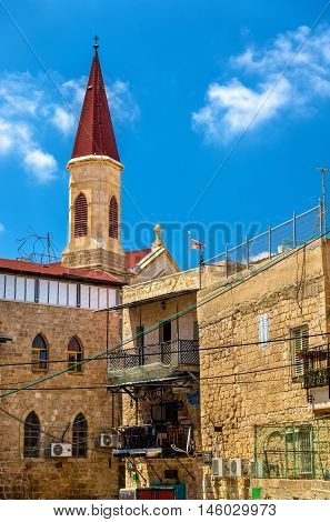 The Franciscan Terra Sancta Church in Akko, Israel poster