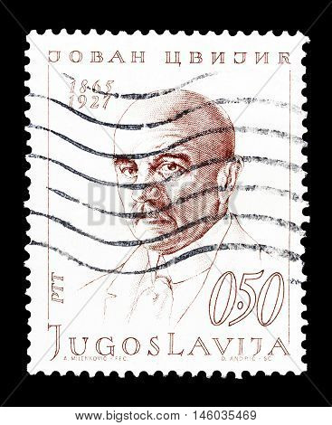 YUGOSLAVIA - CIRCA 1970 : Cancelled postage stamp printed by Yugoslavia, that shows Jovan Cvijic.