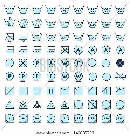 Laundry Symbols Line Design
