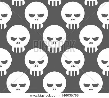 Seamless Skeleton Skull Pattern