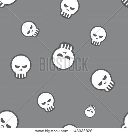 Seamless Skull Pattern Background