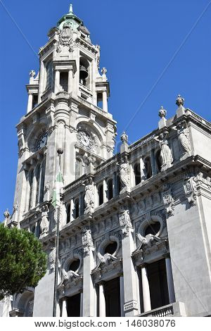 Porto City Hall in Portugal in Europe