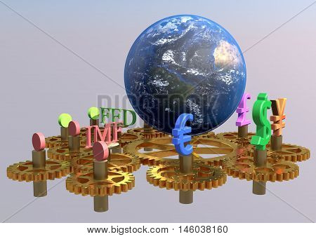 Global finance concept, global business background, financial collage, financial concept, financial markets.