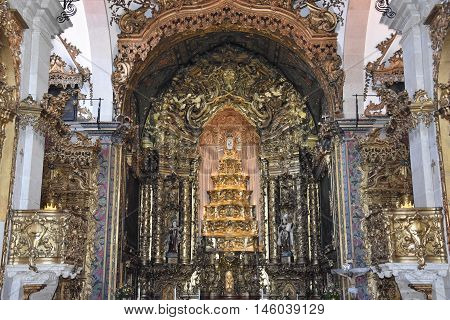 PORTO, PORTUGAL - AUG 22: Igreja do Carmo in Porto, Portugal, as seen on Aug 22, 2016. It was classified as a National Monument to May 3, 2013.
