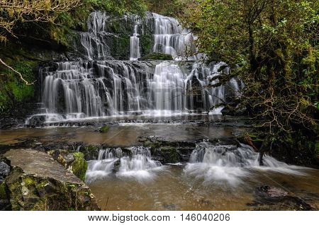 Purakaunui Falls In The Catlins, New Zealand