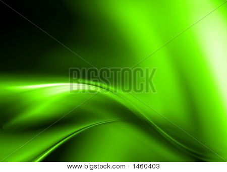 green abstract background composition with flowing design poster