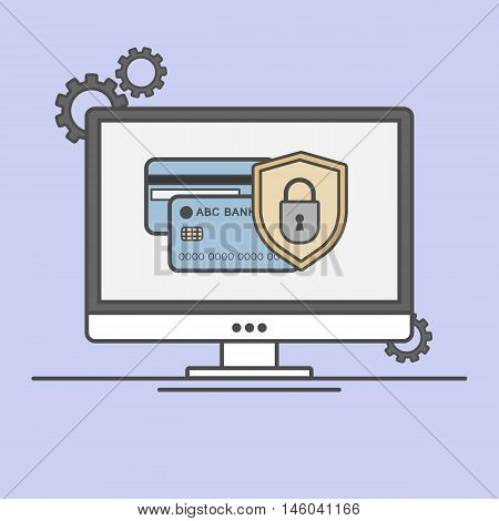 Vector Illustration Of A Secure Payment