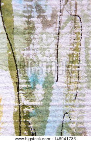 Green White and Blue Watercolour Textures 1