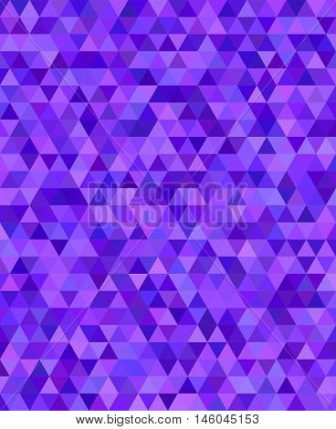 Purple regular triangle mosaic vector background design