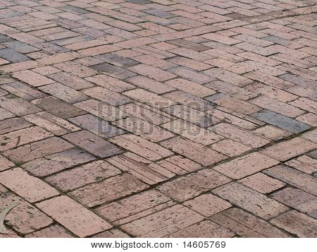 Brick road pattern