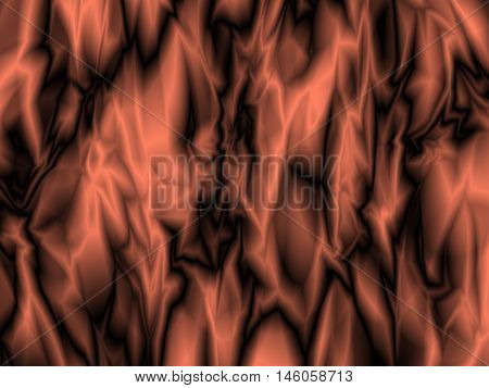 Abstract bronze, copper foil texture technology background, futuristic fabric, silk texture with ambient occlusion effect for design concepts, web and prints. Vector illustration.