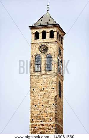 The old clock tower of Sarajevo is the only clock tower in the world that keeps lunar time