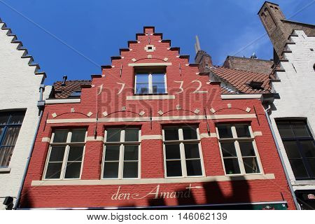 Red brick building built in 1732 in Holland
