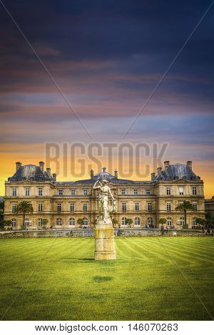 France. Luxembourg Gardens