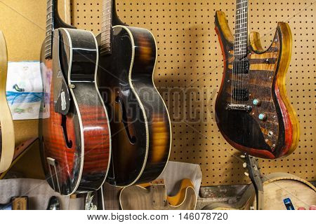 Carmine Street Guitars Store In New York