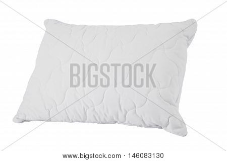 A white pillow isolated on white background