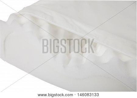 white pillow isolated detail on white background