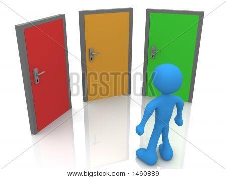 In Front Of Three Doors
