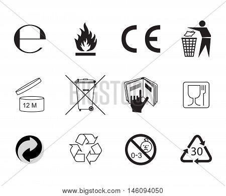 Flat style vector icon. Handbook general symbols.